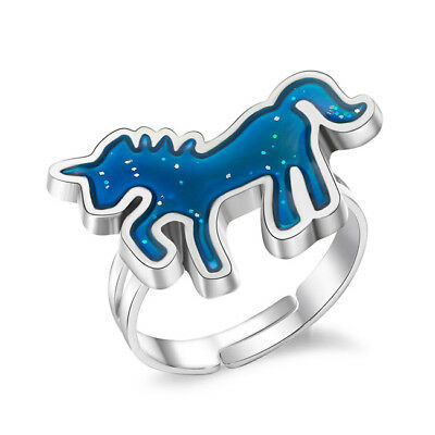 £2.14 • Buy Girls Adjustable Mood Ring Unicorn Shape Changing Colors For Party Favor FB