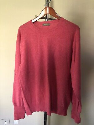 Mens N. Peal Cashmere Jumper, Pink, Large, Excellent Condition • 84£
