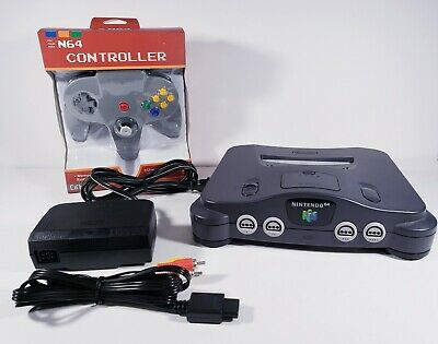 $ CDN160.57 • Buy Official OEM Nintendo 64 N64 [NUS-001] Console - CHARCOAL GREY + NEW CONTROLLER