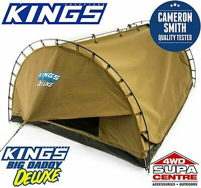AU273.60 • Buy Adventure Kings Big Daddy Deluxe Double Swag 70mm Mattress Optional Bag Bundles