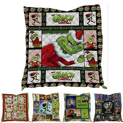 Nightmare Before Christmas Summer Quilt Washed Cotton Bedding Xmas Blanket Throw • 12.69£