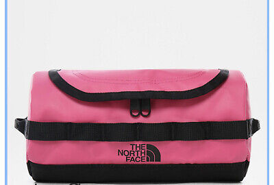 Women's The North Face BASE CAMP TRAVEL CANISTER Toilerty Wash Bag SMALL-Pink • 25£