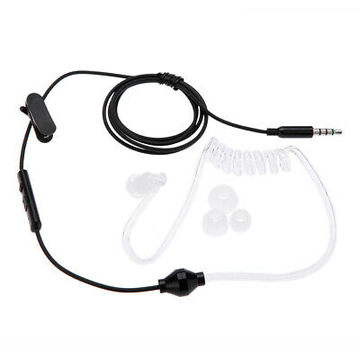 Anti-radiation Stereo Headset MIC Headphones W/ Earbud For IPhone Tablet PC W5U5 • 6.10£
