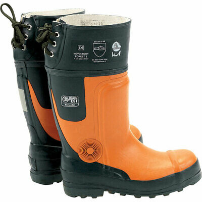 Draper Expert Mens Chainsaw Safety Boots Black / Orange Size 9 • 108.95£