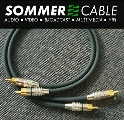 0.5m Sommer Tricone Custom Audiophile Gold Rca Phono Interconnector Cable Leads  • 12.95£