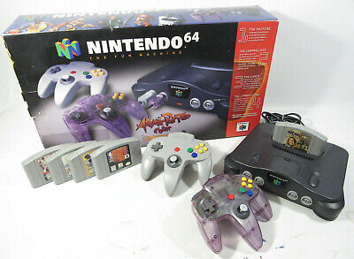 $ CDN361.25 • Buy Nintendo 64 N64 Console Atomic Purple Complete W/ Box + 5 Games Clean/Tested