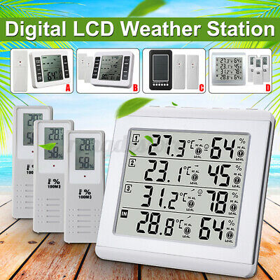 $22.79 • Buy W/Sensor LCD Wireless Digital Thermometer Fridge Freezer Alarm Indoor Outdoor US