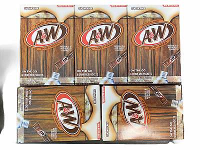 A&W Root Beer Drink Mix 5 Boxes With 6 Packet Each Singles Fresh Expires 2021 • 8.61£