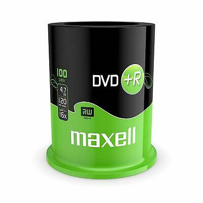 £21.30 • Buy 100 Pack Maxell DVD+R Blank Media Discs - 4.7 GB, 16x Speed, 120 Mins-SPINDLE