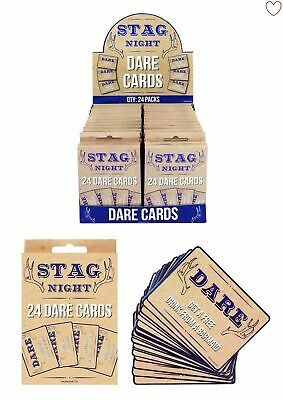 £2.29 • Buy 24 DARE CARDS STAG DO NIGHT Bachelor Accessories Novelty Night Out Challenges