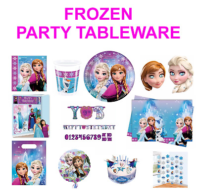 DISNEY'S FROZEN Birthday Party Decorations - Tableware - Balloons - Back Drop • 4.99£