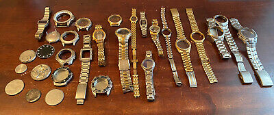 $ CDN5.61 • Buy Lot Of Mostly Mens Watch Cases Backs Bands Seiko Gruen Fossil Timex Citizen More