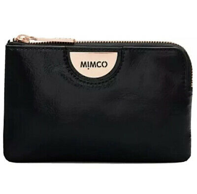 AU37 • Buy MIMCO Echo Black Pouch Leather Wallet Purse Clutch BNWT Rose Gold Authentic NEW