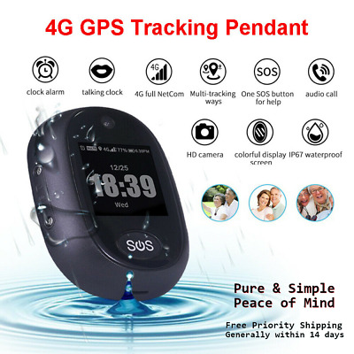 AU109.05 • Buy 4G Personal Real Time GPS Tracker Kids Elderly Waterproof Portable SOS Button