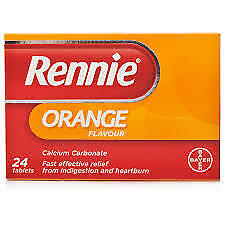 Rennie Orange 24/48 Chewable Tablets For Indigestion Heartburn Antacid • 4.38£