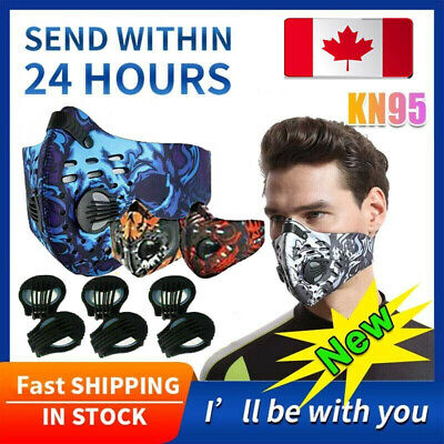 $ CDN4.74 • Buy Reusable Cycling Face Mask Cover With Valve Activated Carbon Filter Pad Purify