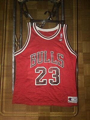 $ CDN99 • Buy VTG 90s Champion Michael Jordan #23 Jersey NBA Chicago Bulls Size 44 Red