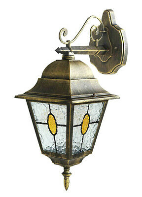 Bronze Effect Lantern Wall Light 240V E27 • 22.95£