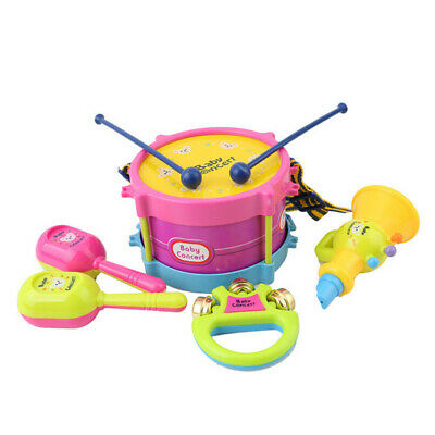 Kids Drum Trumpet Toy Music Percussion Instrument Early Educational Toy Gift PF • 5.91£