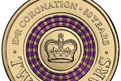 AU54.95 • Buy 2013 Australian Two Dollar $2 Coin - PURPLE Queens Coronation - Circ Scarce