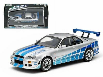 AU55 • Buy GREENLIGHT 1:43 Fast And Furious - Brian's 1999 Nissan Skyline GT-R - Diecast