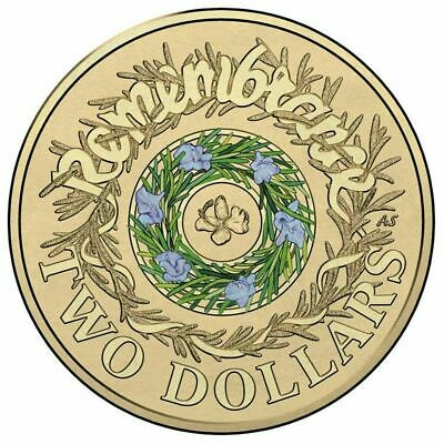 AU9.50 • Buy 🥇Rare Australian Two Dollar $2 Coin - 2017 - Remembrance Day Rosemary CIRC