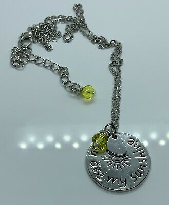AU17.95 • Buy Stamped Pendant  ~ You Are My Sunshine~ Fine Linked Chain Necklace
