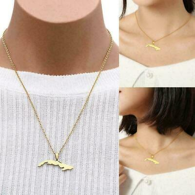 AU2.93 • Buy Map Pendant Necklaces For Women Gold Color Small Size Birthday Jewelry Gift