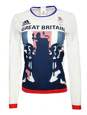 Adidas Response Comp Training T Shirt Womens 16 Team GB Long Sleeve Running Top • 9.99£