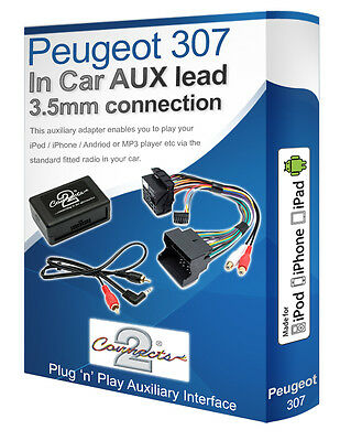 Peugeot 307 AUX Lead, IPod IPhone MP3 Player, Peugeot Auxiliary Adaptor Kit • 36.99£