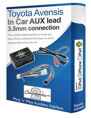 Toyota Avensis AUX Lead, IPod IPhone MP3 Player, Toyota Auxiliary Adaptor Kit • 45.99£
