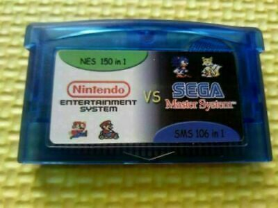 Gameboy Advance Multicart Collection GBA Cartridge 150 NES + 106 SMS Games In 1 • 8.99£