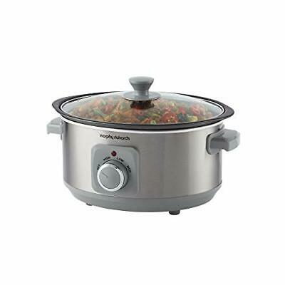 Morphy Richards 460018  Sear & Stew 3.5 Litre Aluminium Slow Cooker, One-Pot • 44.99£