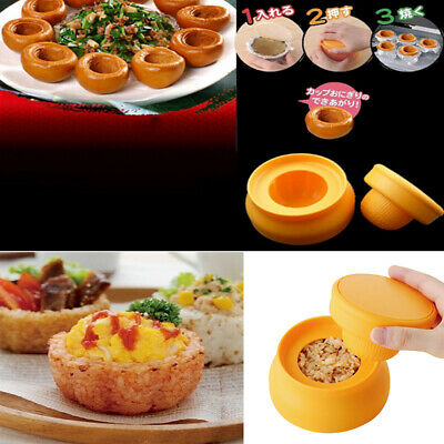Home Plastic Rice Cup Bento Mold Sushi Maker Mould Set Food Kitchen Gadget FB • 4.02£