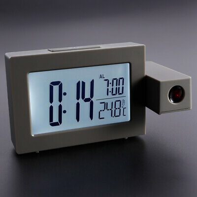 Wall/ Ceiling Digital LCD Alarm Clock LED Projection Display Snooze Dual Powered • 16.49£