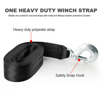 AU25.99 • Buy 5*600cm Heavy Duty Polyester Winch Strap With Hook 10000LBS Max For Car/Boat AU
