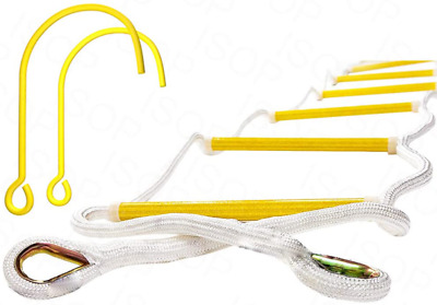 ISOP Fire Escape Rope Ladder 2 Story 13 Ft With Hooks - Safety Rope Ladder From  • 117.09£