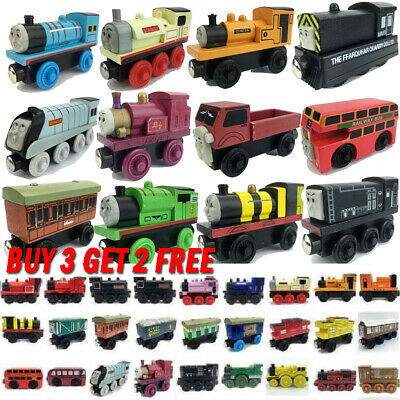 The Tank Engine Tender Wooden Magnetic Railway Train Toy Truck Car Kids Gift HOT • 2.99£