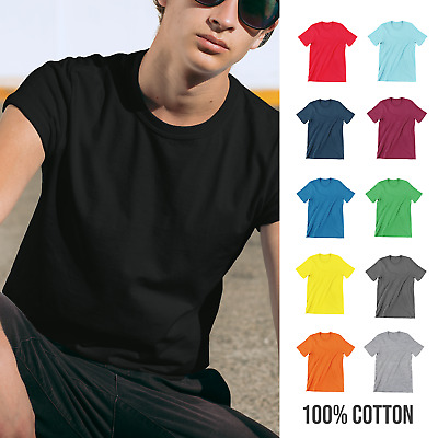 Mens Summer Softstyle T-Shirt Plain Blank Ringspun Cotton Casual Style Clothing • 3.75£