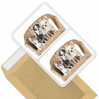 2 X Rectangle Stickers 10cm - Chihuahua Puppies Dogs Puppy Dog #44581 • 2.99£