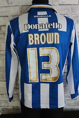 Brighton & Hove Albion Brown #13 Adults Shirt S Good Condition • 19.99£