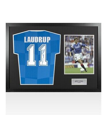 £354.99 • Buy Framed Brian Laudrup Signed Rangers Shirt - Number 11 - Panoramic Autograph