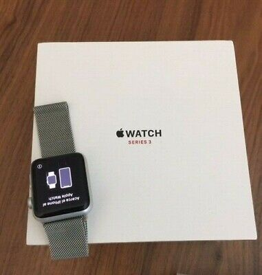 $ CDN297.25 • Buy Apple Watch Series 3 GPS/Cellular Space Silver/Aluminum 42mm Black Incl. Band