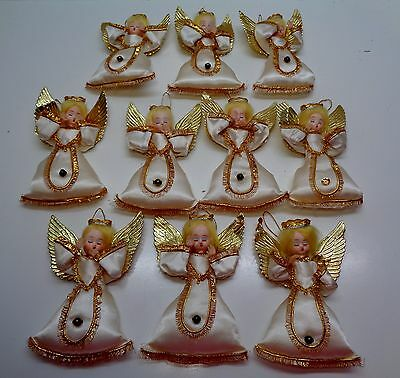 $ CDN57.39 • Buy 10 Vintage Made In Japan GOLD WINGED ANGEL ORNAMENT Christmas Decorations