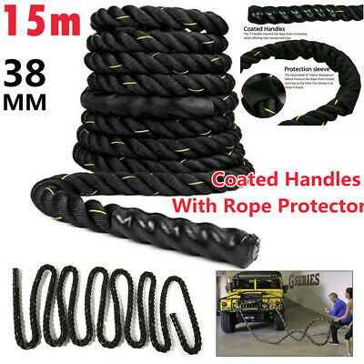 AU38.99 • Buy 9M 38mm PolyDac Battle Rope Sports Exercise Fitness Workout Strength Training AU