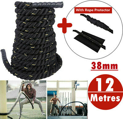 AU59.99 • Buy 9M 38mm PolyDac Battle Rope Sports Exercise Fitness Workout Strength Training AU
