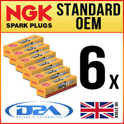 6x NGK BPR6ES-CS1 (7678) Standard Spark Plug *Wholesale Price SALE* • 20.02£