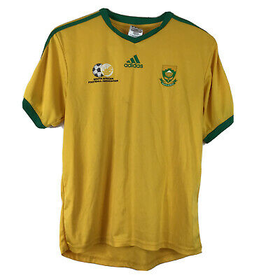 Adidas South Africa Football Association Yellow With Green T-shirt Size S Mens • 17£