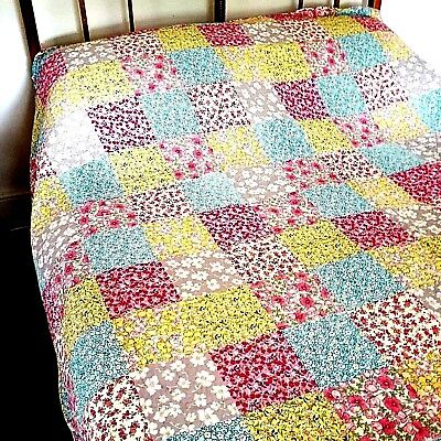 Bedspread Quilt Patchwork Style Vintage Bed Throw Traditional Duvet Quilted  • 78£