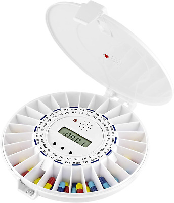 TabTime Medelert SII Automatic Pill Dispenser. 6 Alarms Per Day. SOLID Lockable • 85.20£